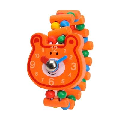 Image of   Armbåndsur i træ, bjørn