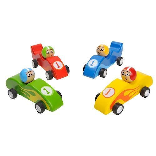 Image of   Racerbil i træ med pullback