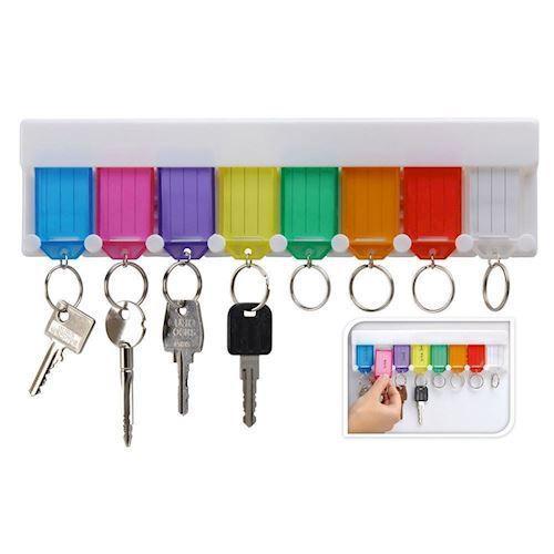 Nøglebræt med nøgleringe