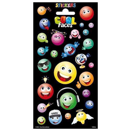 Image of   Sticker Twinkle - Cool Faces - Klistermærker