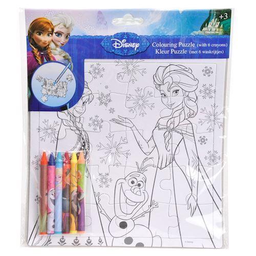 Image of   Disney, Frozen/Frost - Farv dit eget puslespil