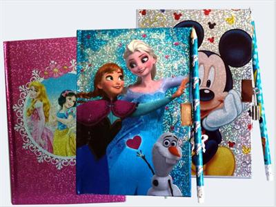 Image of   Dagbog med lås Disney motiv