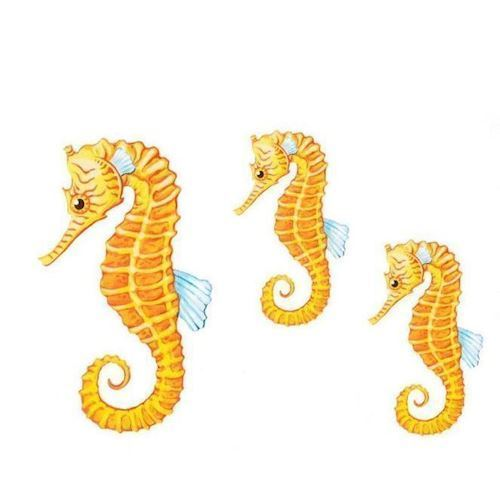 Image of   Wall stickers sea horses, set of 3