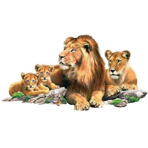 Wall sticker Lion Family