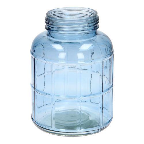 Image of   Blå glas beholder