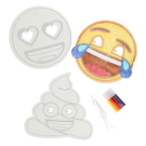 lav masker med Emoji, 3 stk