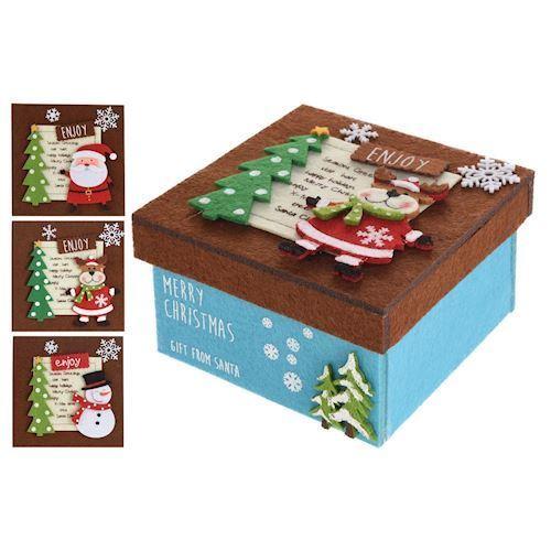 Image of   Jule filt kasse, pris er pr. stk.