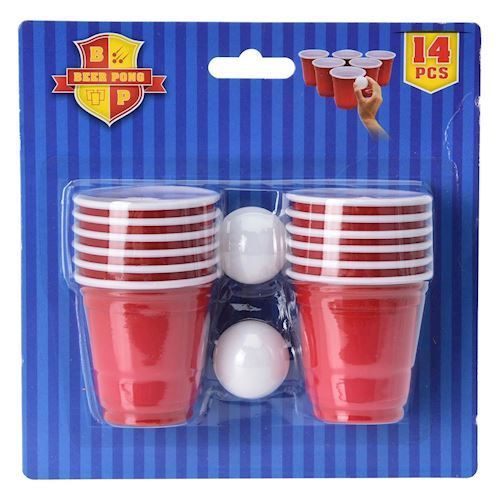 Image of   Beerpong spil Mini, 14 dele