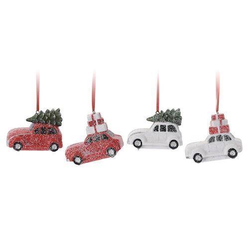 Image of   Juledekoration med bil