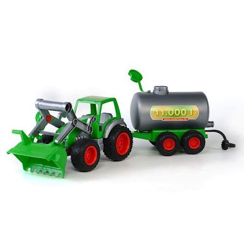 Image of   Polesie, traktor med frontlæsser og tank trailer
