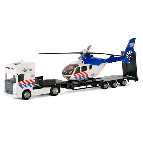 Image of   Polesie,Lastbil med helikopter, politi