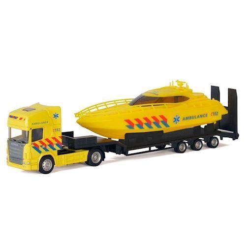 Image of   Polesie,Lastbil med båd, Ambulance