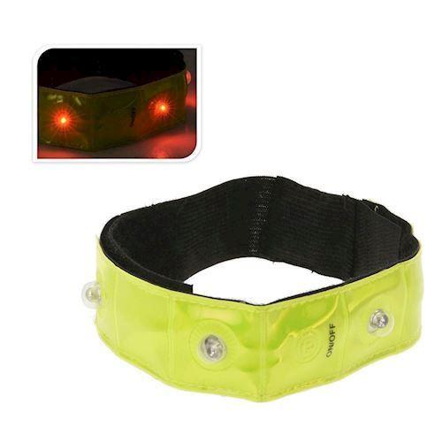 Image of   Håndleds refleksarmbånd med LED lys