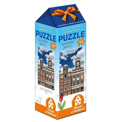 Image of   Holland most beautiful! Puzzle - Canal houses, 100pcs.
