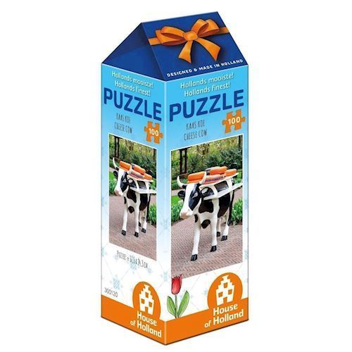 Image of   Holland most beautiful! Puzzle - Cheese Cow, 100pcs.