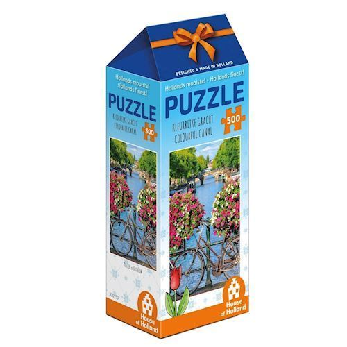 Image of   Holland most beautiful! Puzzle - Colorful canal, 500pcs.