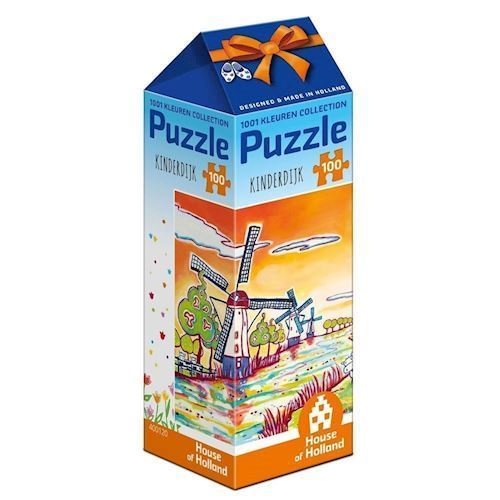 Image of   1001Color Puzzle - Kinderdijk, 100pcs.