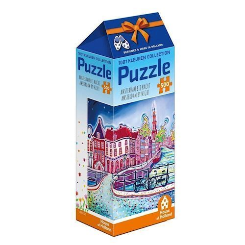 Image of   1001Color Puzzle - Amsterdam at night, 500pcs.