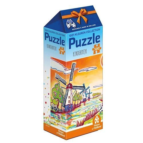 Image of   1001Color Puzzle - Kinderdijk, 500pcs.