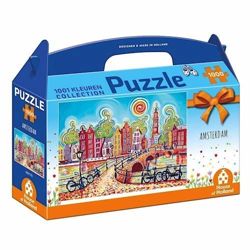 Image of   1001Color Puzzle - Colorful Amsterdam, 1000pcs.