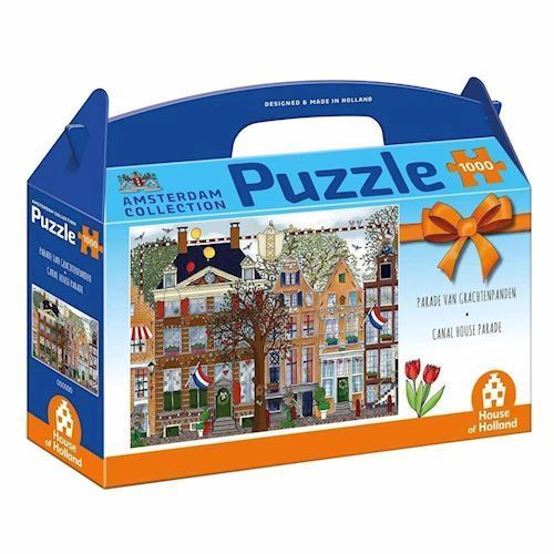 Image of   Amsterdam Puzzle - Parade of canal houses, 1000st.