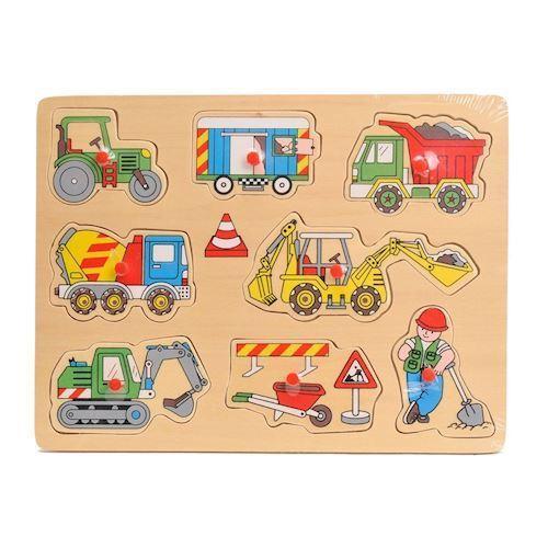 Image of   Puslespil på byggepladsen