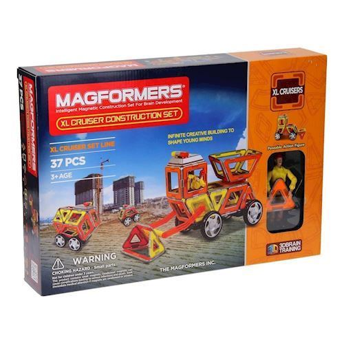 Image of   Magformers XL Cruisers byggeplads 37 dele