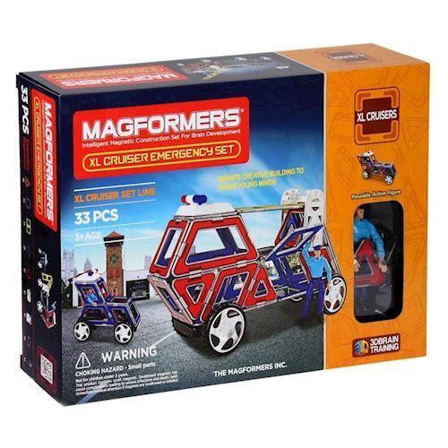 Image of   Magformers XL Cruisers redningskøretøj 33 dele