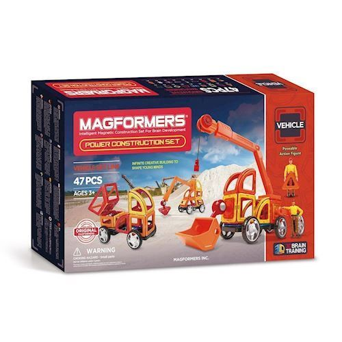 Image of   Magformers Power Construction Sæt, 47 dele