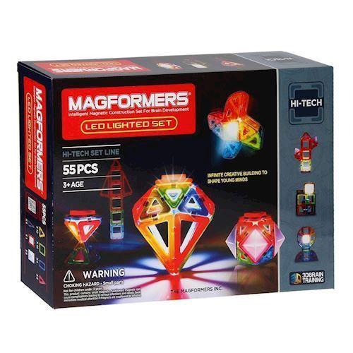 Image of   Magformers LED Sæt 55 dele