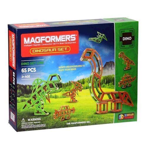 Image of   Magformers dinosaur sæt 65 dele