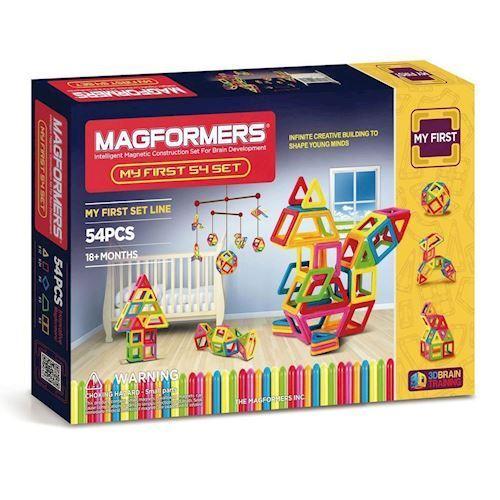 Image of   Mine første Magformers, 54 dele
