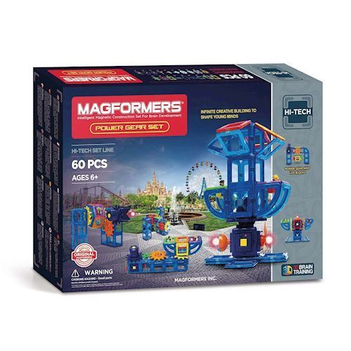 Image of   Magformers Power Gear Sæt, 60 dele