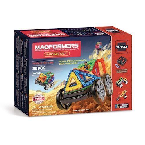 Image of   Magformers Racer sæt, 39 dele