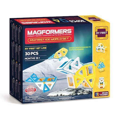 Image of   Magformers min første is verden, 30 dele