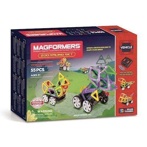 Image of   Magformers Zoo Racing Sæt, 55 dele