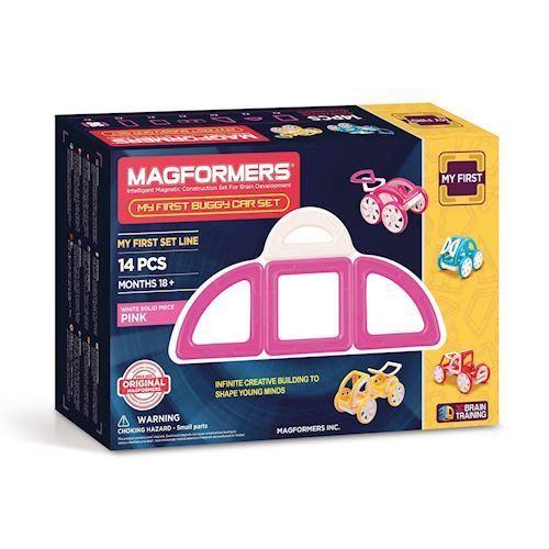 Image of   Magformers min første bil, lyserød 14 dele