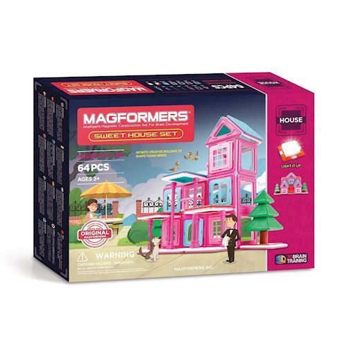 Image of   Magformers Sweet House, 64 dele