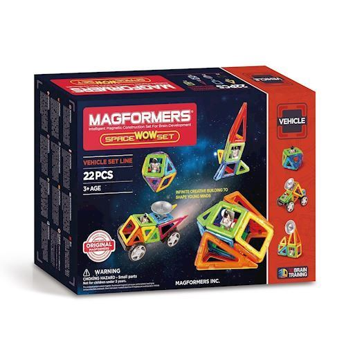 Image of   Magformers space WOW sæt, 22 dele