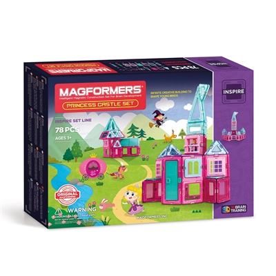 Image of   Magformers Prinsesse slot, 78 dele