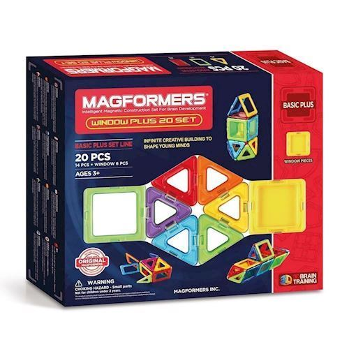 Image of   Magformers Window Plus Sæt, 20 dele