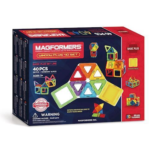 Image of   Magformers Window Plus Sæt, 40 dele
