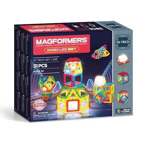 Image of Magformers Neon LED Sæt, 31dlg. (8809465531485)
