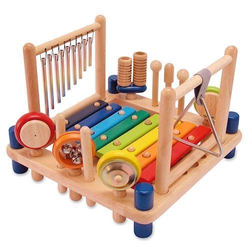 Musikcenter i træ. 9 Instrumenter