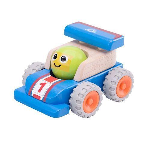 Image of   Racerbil med smiley i træ, Wonderworld