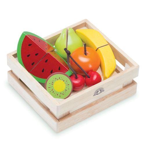 Wonderworld, legemad, trækasse med frugter