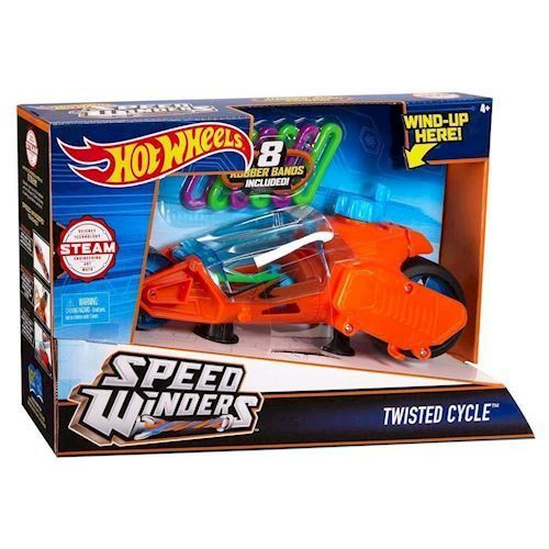 Image of   Hot Wheels Twisted Cycle Engine - Orange