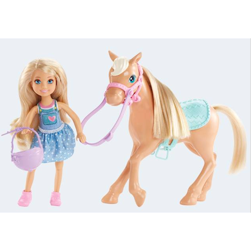 Image of   Barbie dukke, DYL42 Chelsea og Pony