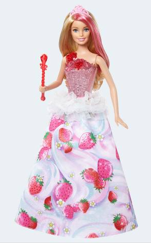 Image of   Barbie dukke, DYX28 Prinsesse med lys & lyd