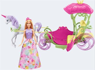 Image of   Barbie dukke, DYX31 Bonbon Prinsesse, Enhjørning & Karet